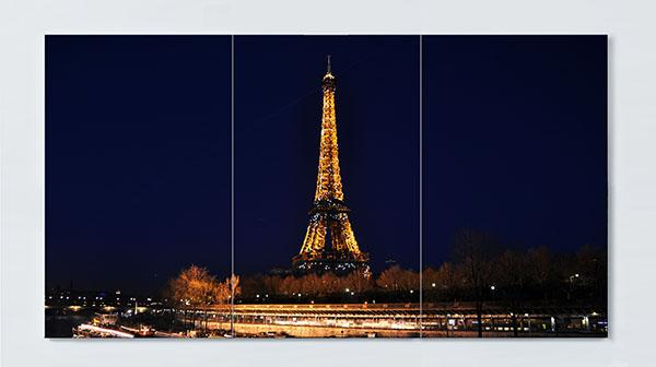 Magnettafel NOTIZ 120x60cm Motiv Paris Eifelturm MP04 Motiv-Pinnwand