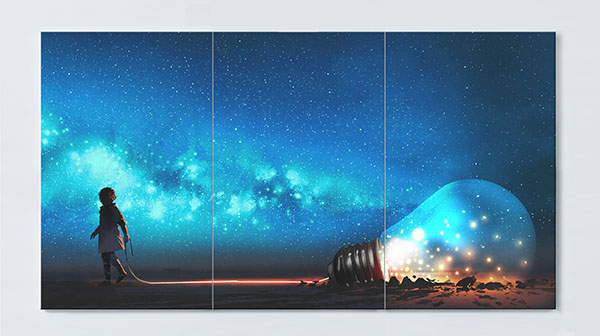 Magnettafel NOTIZ 120x60cm Motiv Kunst MP112 Motiv-Pinnwand