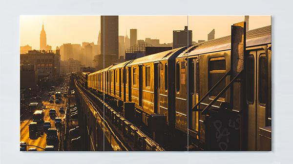 Magnettafel NOTIZ 120x60cm Motiv New York MP16 Motiv-Pinnwand