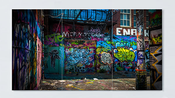 Magnettafel NOTIZ 120x60cm Motiv Graffiti MP17 Motiv-Pinnwand
