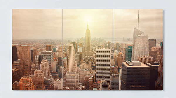 Magnettafel NOTIZ 120x60cm Motiv New York MP20 Motiv-Pinnwand