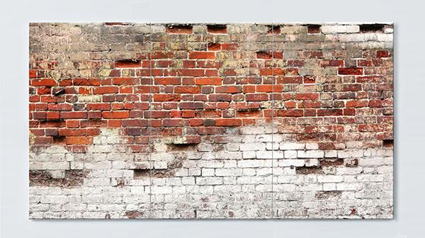Magnettafel NOTIZ 120x60cm Motiv Häuserwand MP24 Motiv-Pinnwand