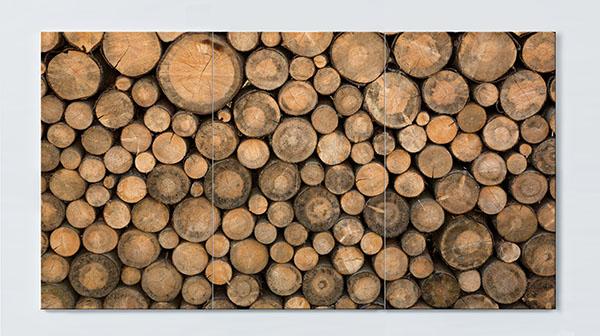 Magnettafel NOTIZ 120x60cm Motiv Holz MP34 Motiv-Pinnwand