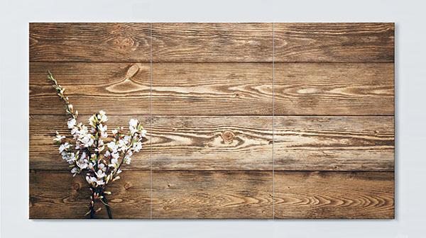 Magnettafel NOTIZ 120x60cm Motiv Holz MP35 Motiv-Pinnwand