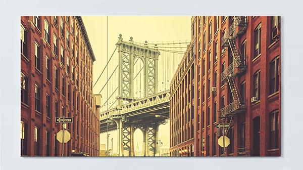 Magnettafel NOTIZ 120x60cm Motiv New York MP51 Motiv-Pinnwand