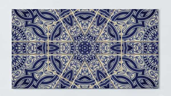 Magnettafel NOTIZ 120x60cm Motiv Mosaik MP62 Motiv-Pinnwand