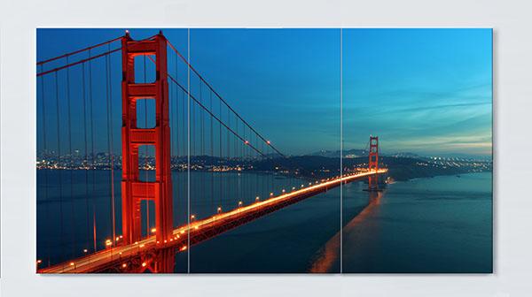 Magnettafel NOTIZ 120x60cm Motiv Golden Gate MP87 Motiv-Pinnwand