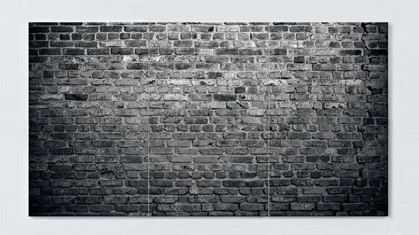 Magnettafel NOTIZ 120x60cm Motiv Häuserwand MP91 Motiv-Pinnwand