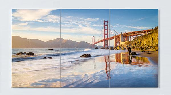 Magnettafel NOTIZ 120x60cm Motiv Golden Gate MP97 Motiv-Pinnwand