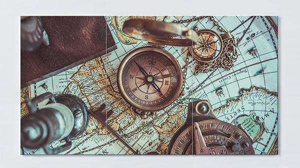 Magnettafel NOTIZ 120x60cm Motiv Reisen MP98 Motiv-Pinnwand