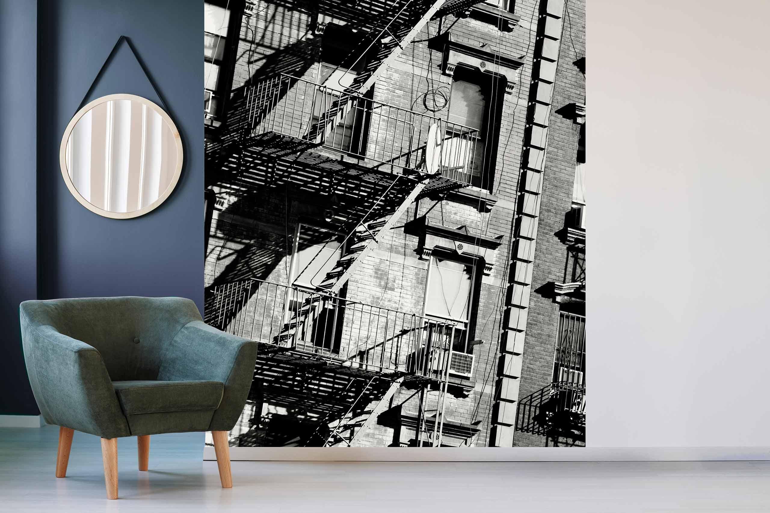 Vlies Tapete 225 Fototapete Höhe 250cm Motiv 08 New York Schwarz-Weiß