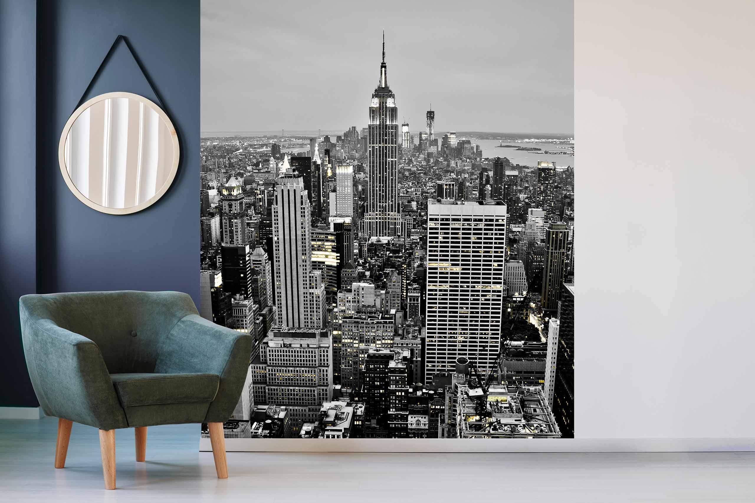 Vlies Tapete 225 Fototapete Höhe 250cm Motiv 100 New York Schwarz-Weiß
