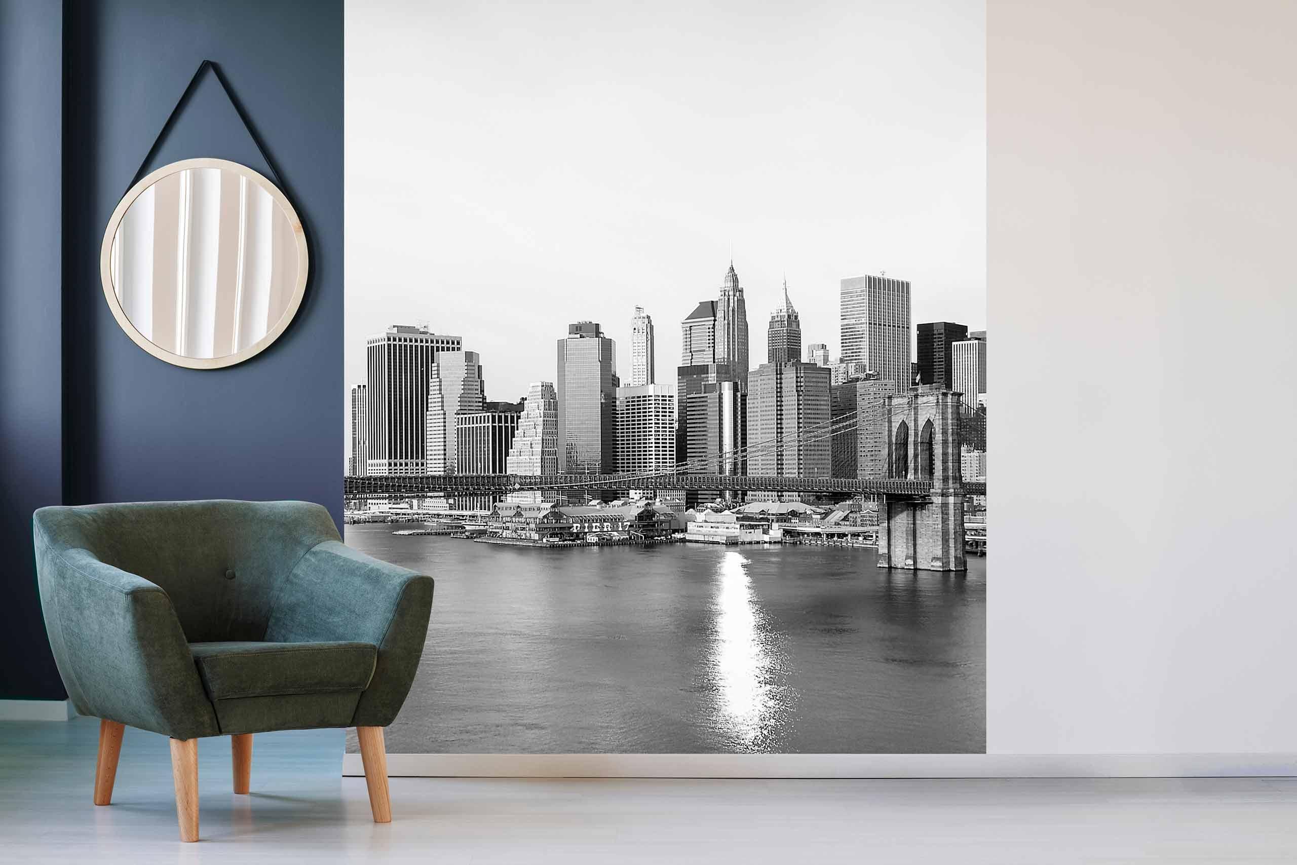 Vlies Tapete 225 Fototapete Höhe 250cm Motiv 12 New York Schwarz-Weiß