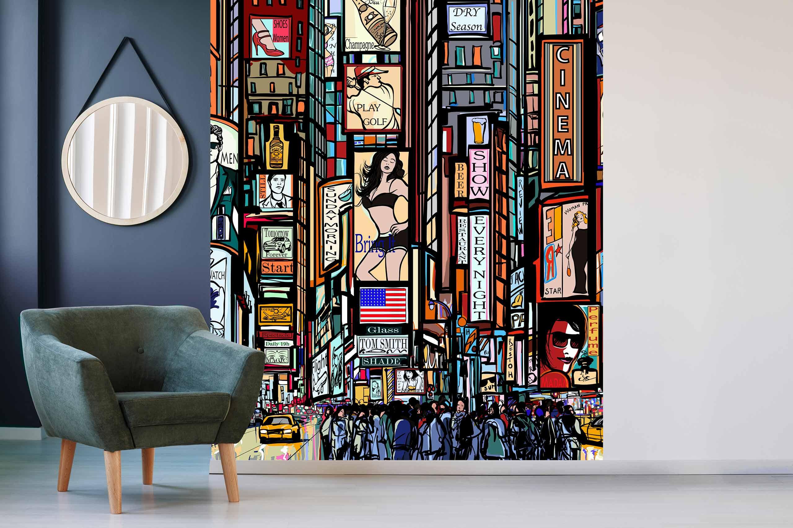 Vlies Tapete 225 Fototapete Höhe 250cm Motiv 13 New York