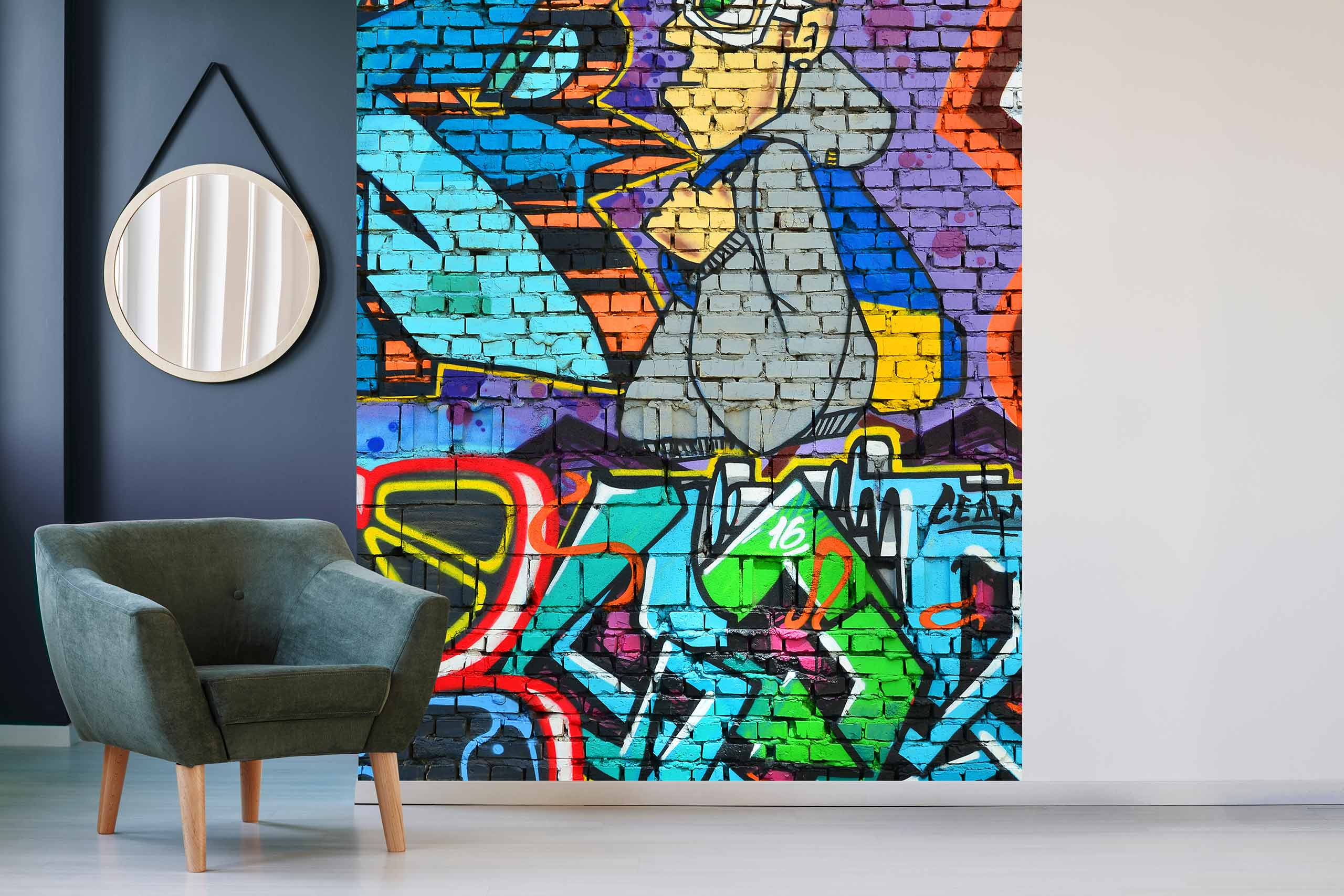 Vlies Tapete 225 Fototapete Höhe 250cm Motiv 135 Graffiti