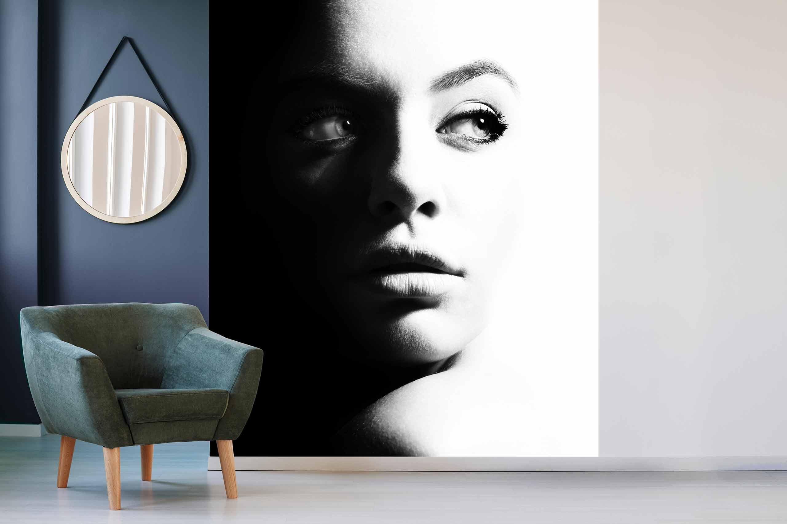 Vlies Tapete 225 Fototapete Höhe 250cm Motiv 154 Portrait Schwarz-Weiß