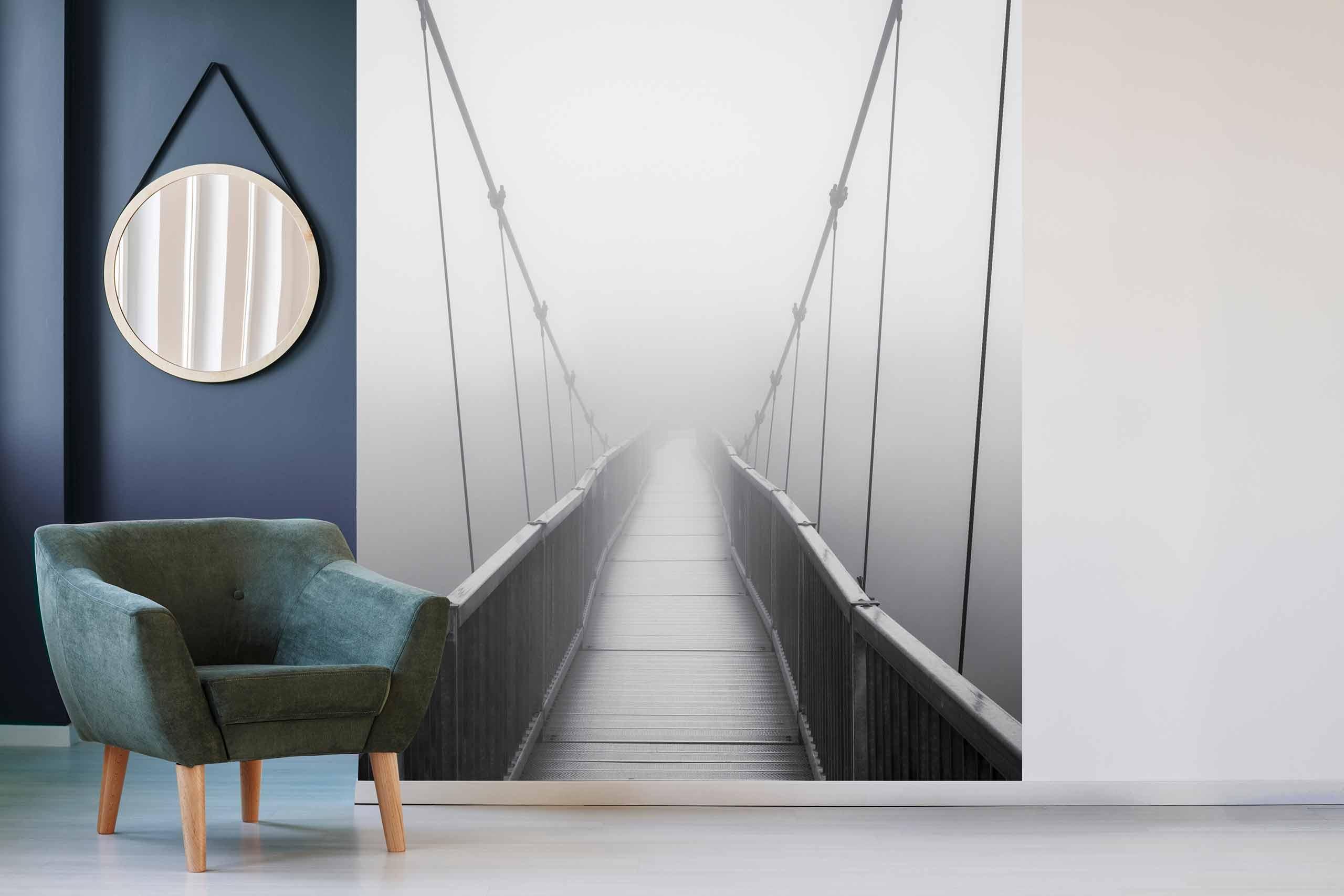 Vlies Tapete 225 Fototapete Höhe 250cm Motiv 16 Brücke Schwarz-Weiß