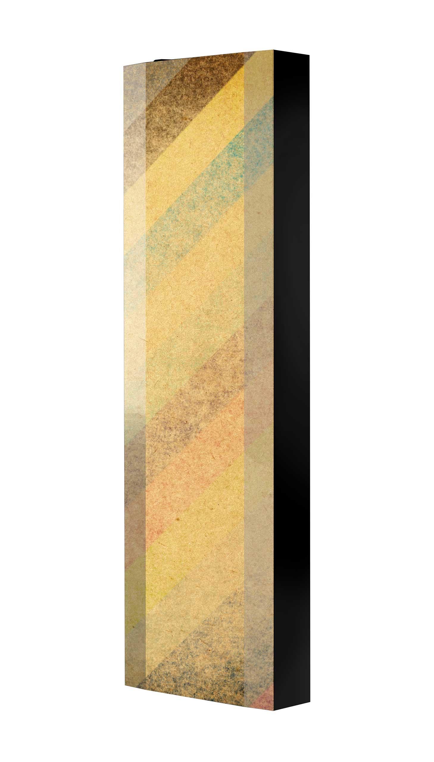 Schuhschrank FLASH 450 BLACK-EDITION Motivschrank schwarz drehbar M03 Tapete Vintage