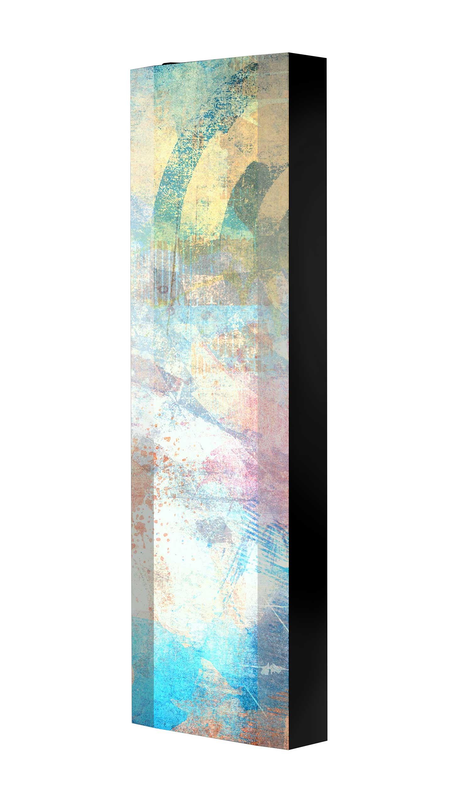 Schuhschrank FLASH 450 BLACK-EDITION Motivschrank schwarz drehbar M04 Abstrakt Kunst