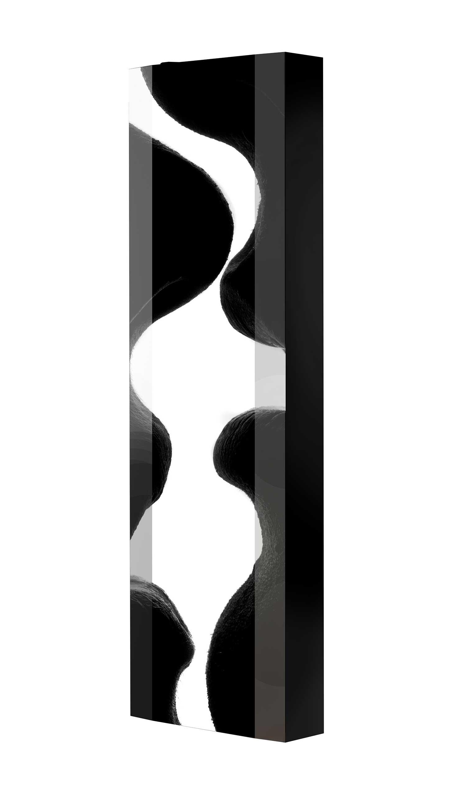 Schuhschrank FLASH 450 BLACK-EDITION Motivschrank schwarz drehbar M05 Lippen Schwarz-Weiß