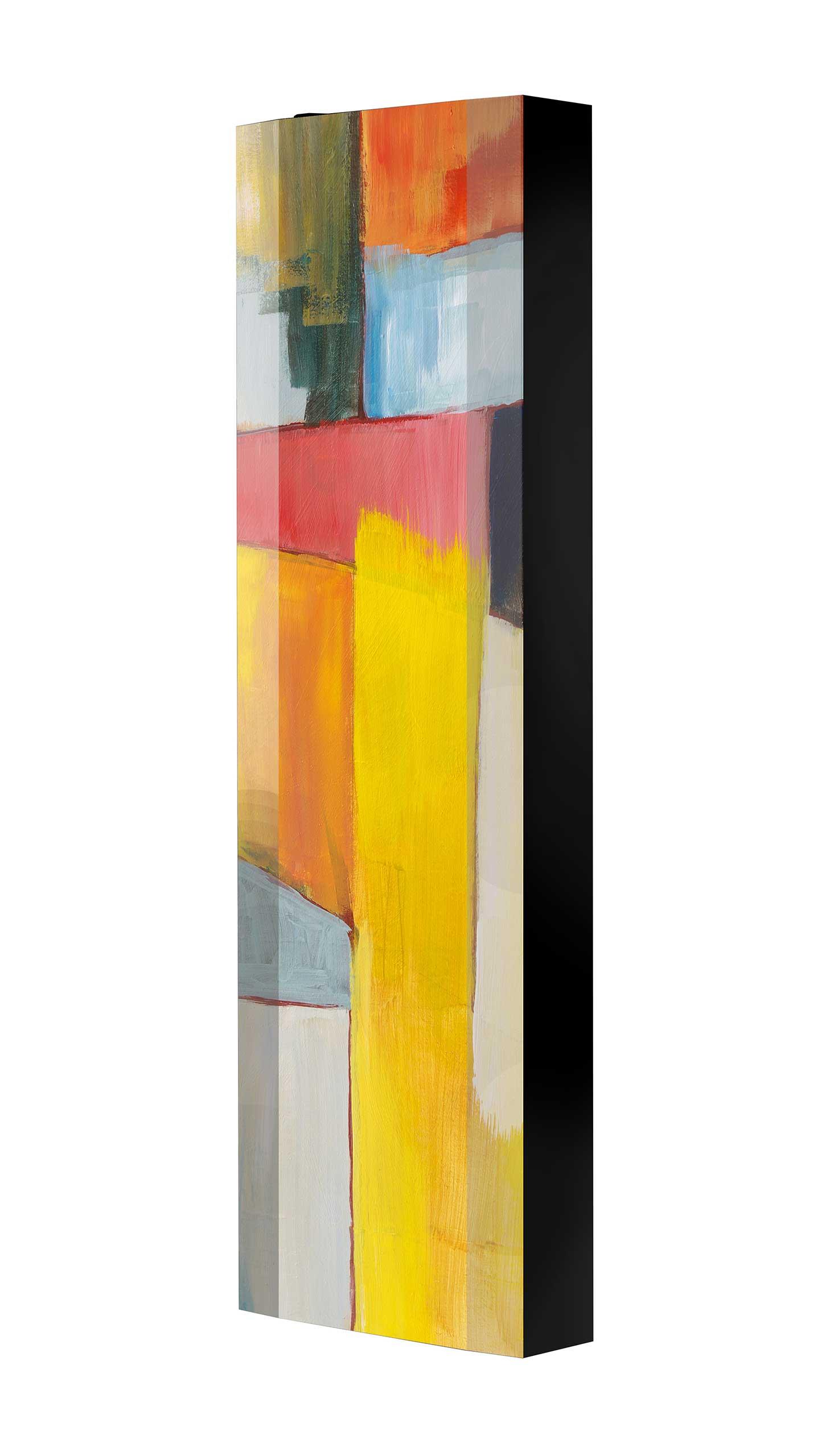 Schuhschrank FLASH 450 BLACK-EDITION Motivschrank schwarz drehbar M06 Kunst Modern