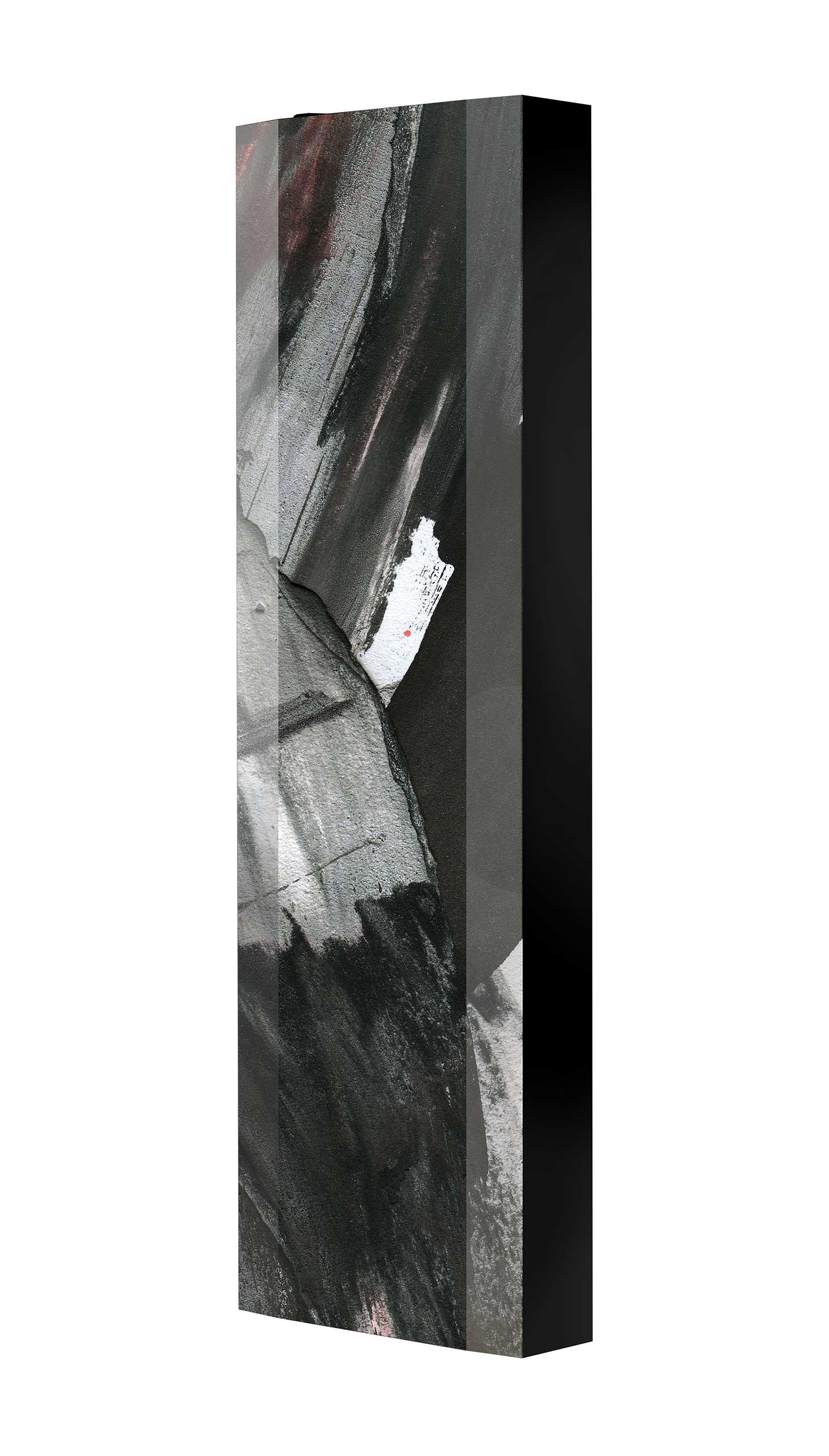 Schuhschrank FLASH 450 BLACK-EDITION Motivschrank schwarz drehbar M106 Abstrakt Kunst