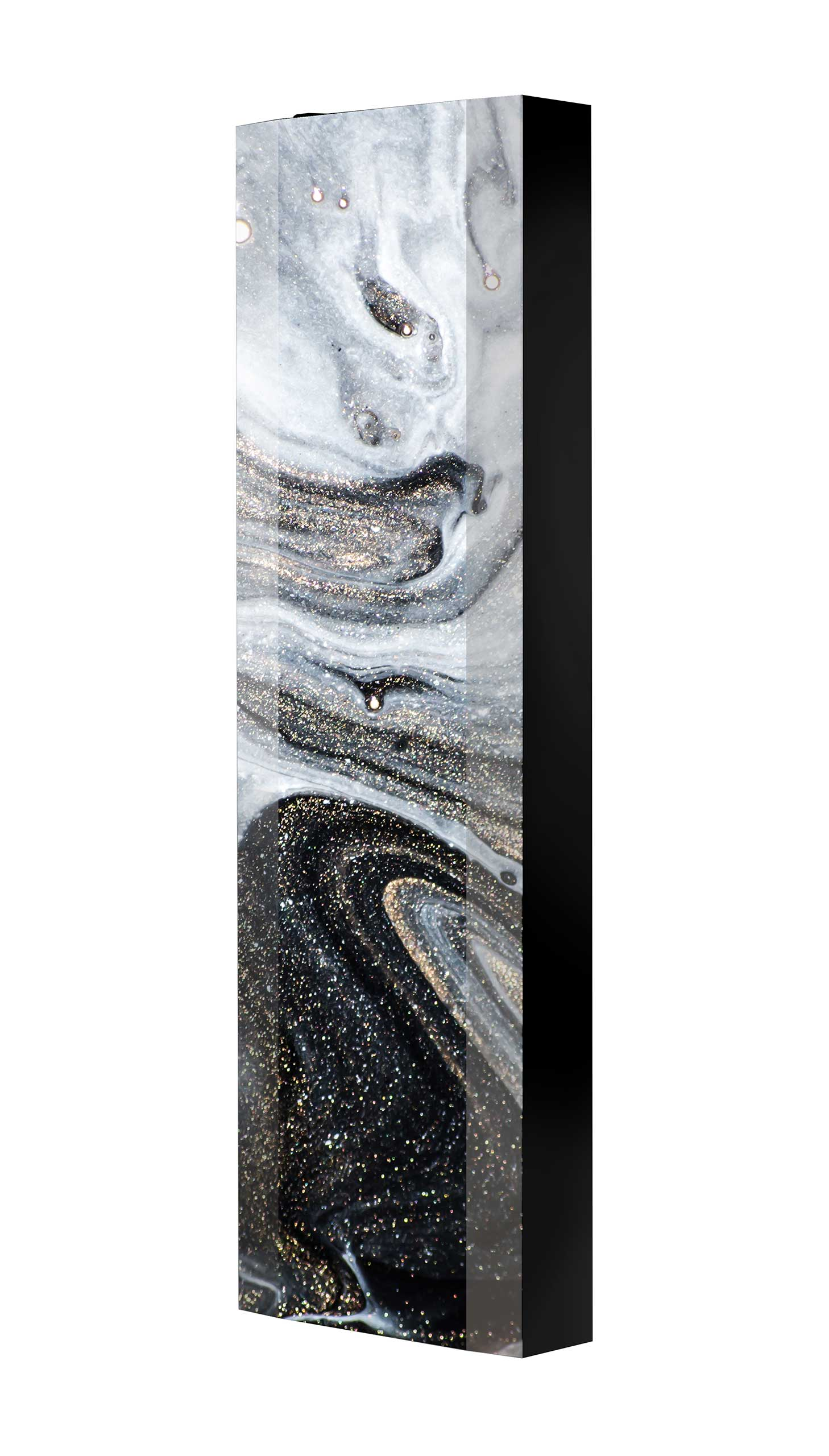 Schuhschrank FLASH 450 BLACK-EDITION Motivschrank schwarz drehbar M107 Kunst Modern