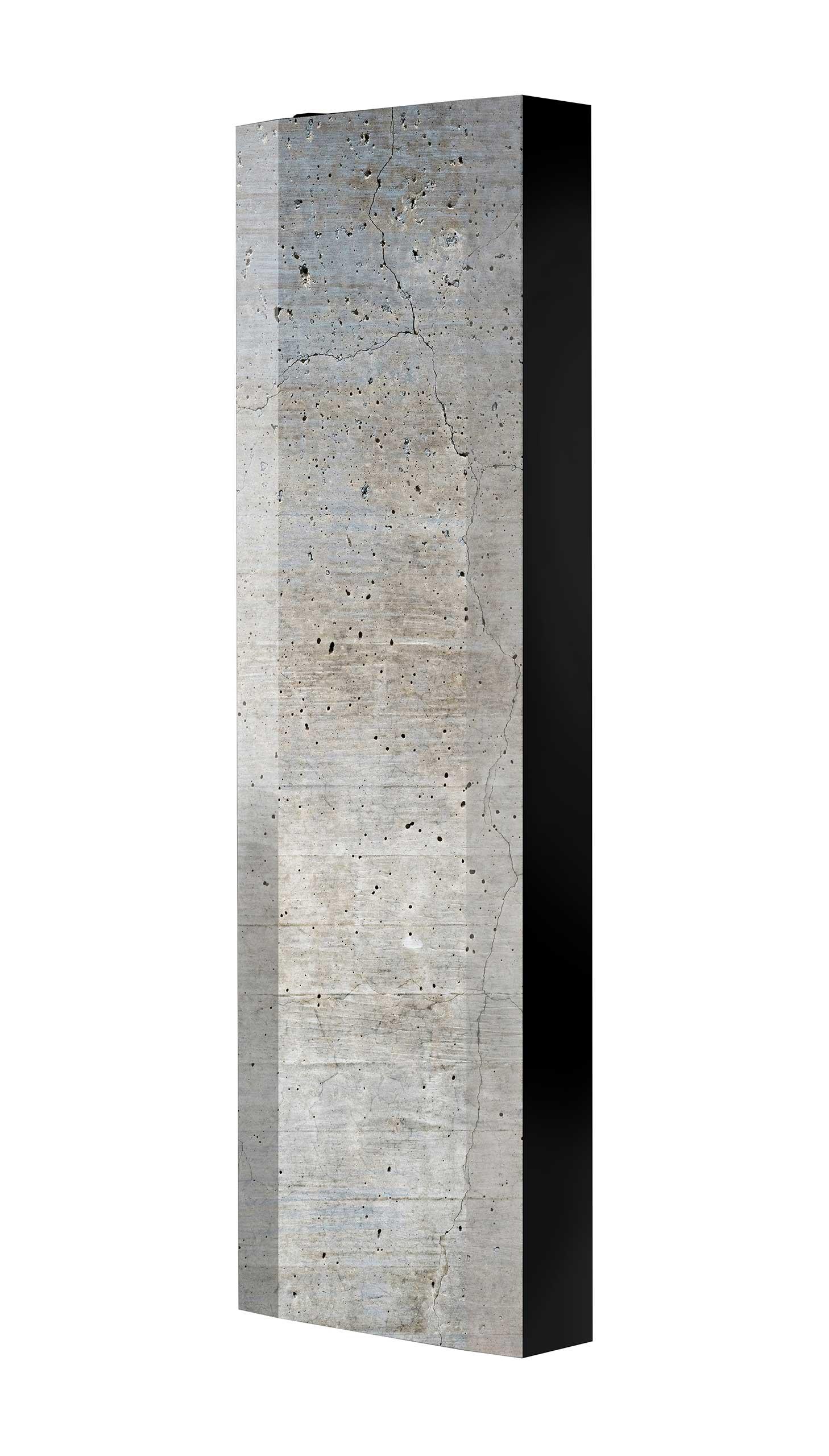 Schuhschrank FLASH 450 BLACK-EDITION Motivschrank schwarz drehbar M109 Beton