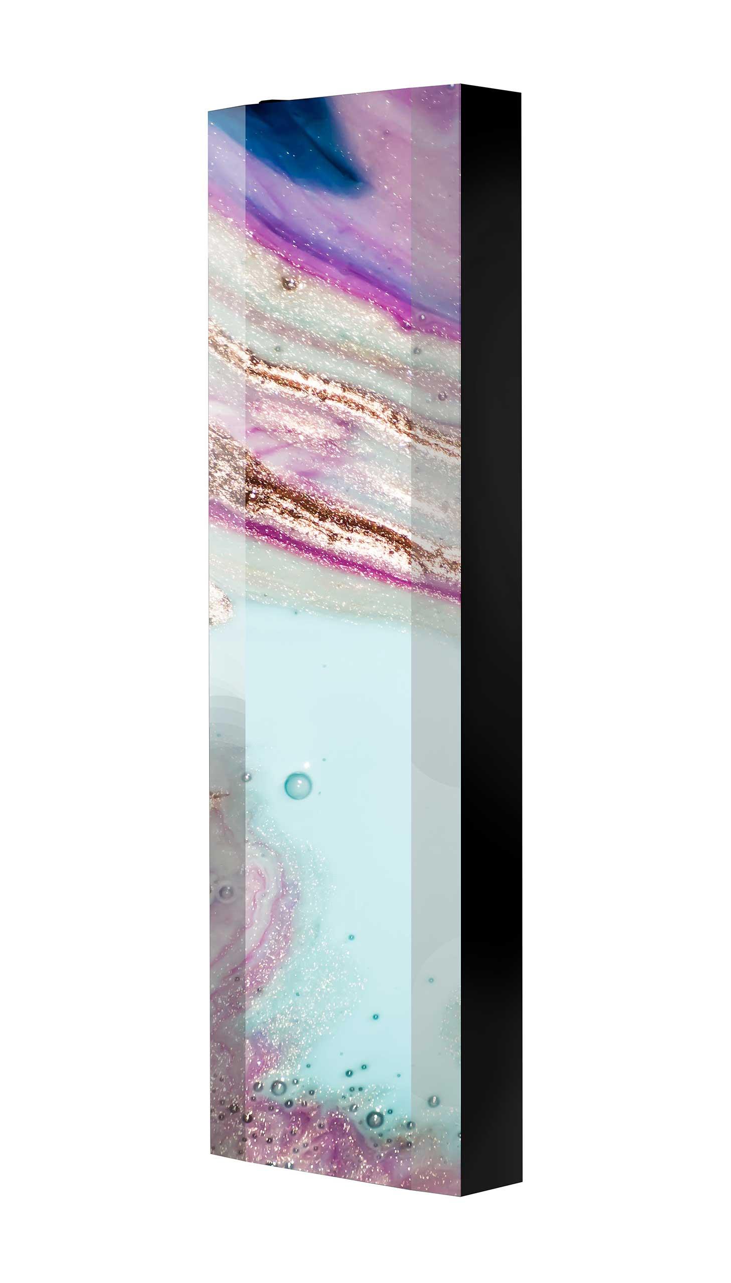 Schuhschrank FLASH 450 BLACK-EDITION Motivschrank schwarz drehbar M115 Kunst Modern