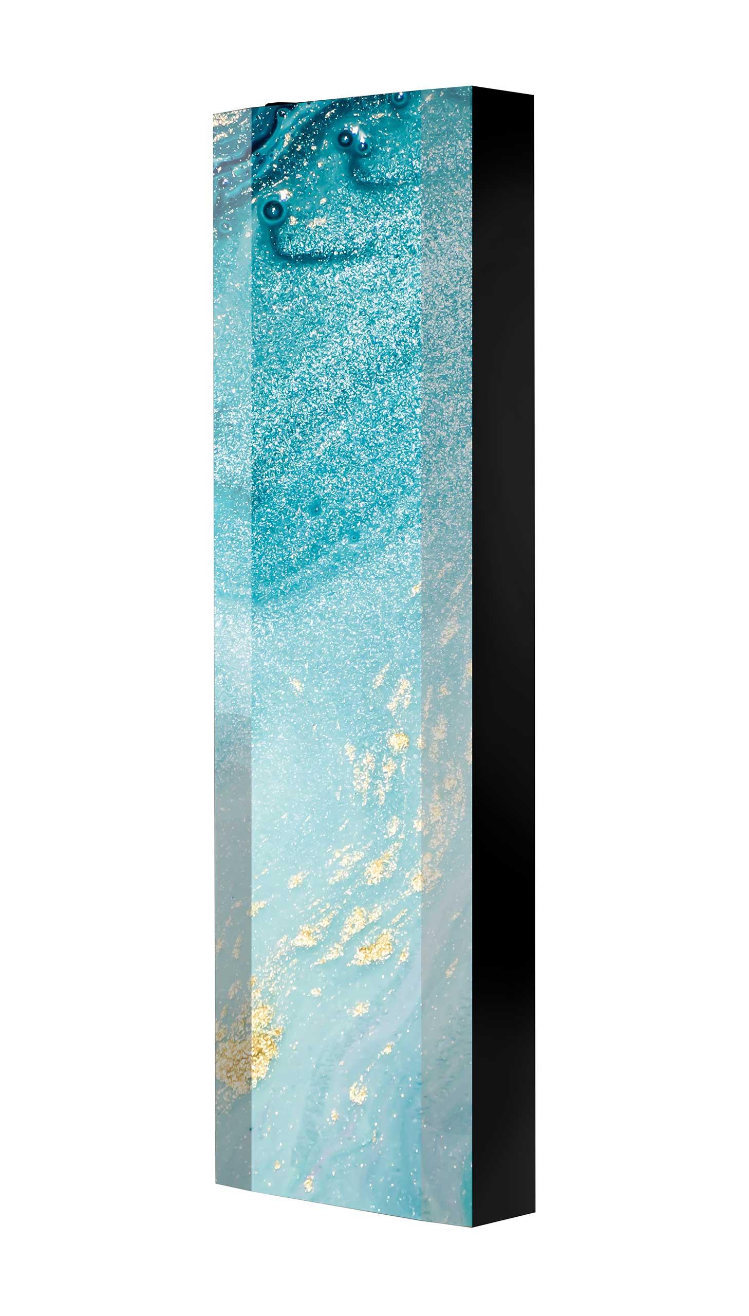 Schuhschrank FLASH 450 BLACK-EDITION Motivschrank schwarz drehbar M116 Kunst Modern