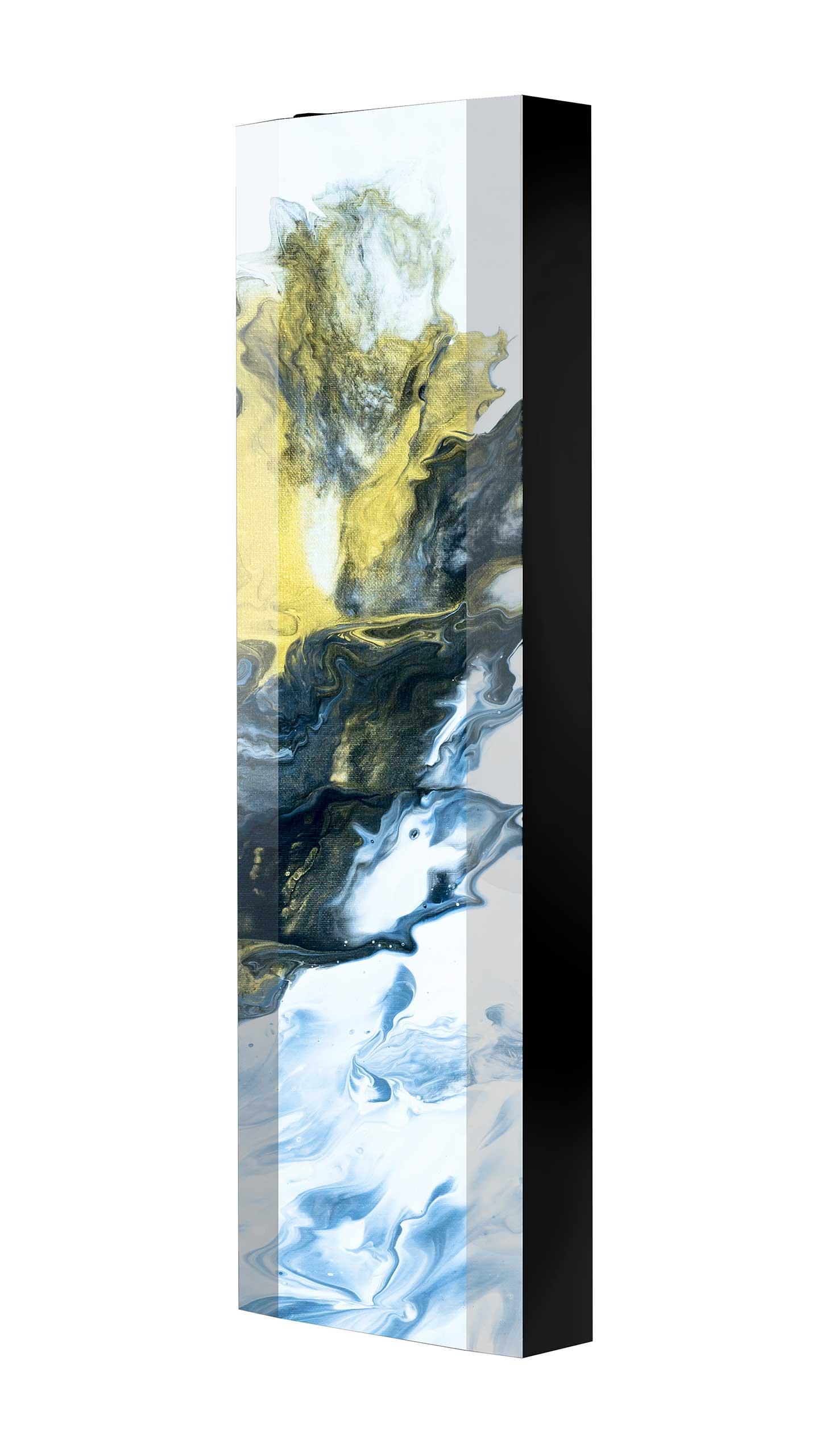 Schuhschrank FLASH 450 BLACK-EDITION Motivschrank schwarz drehbar M118 Kunst Modern