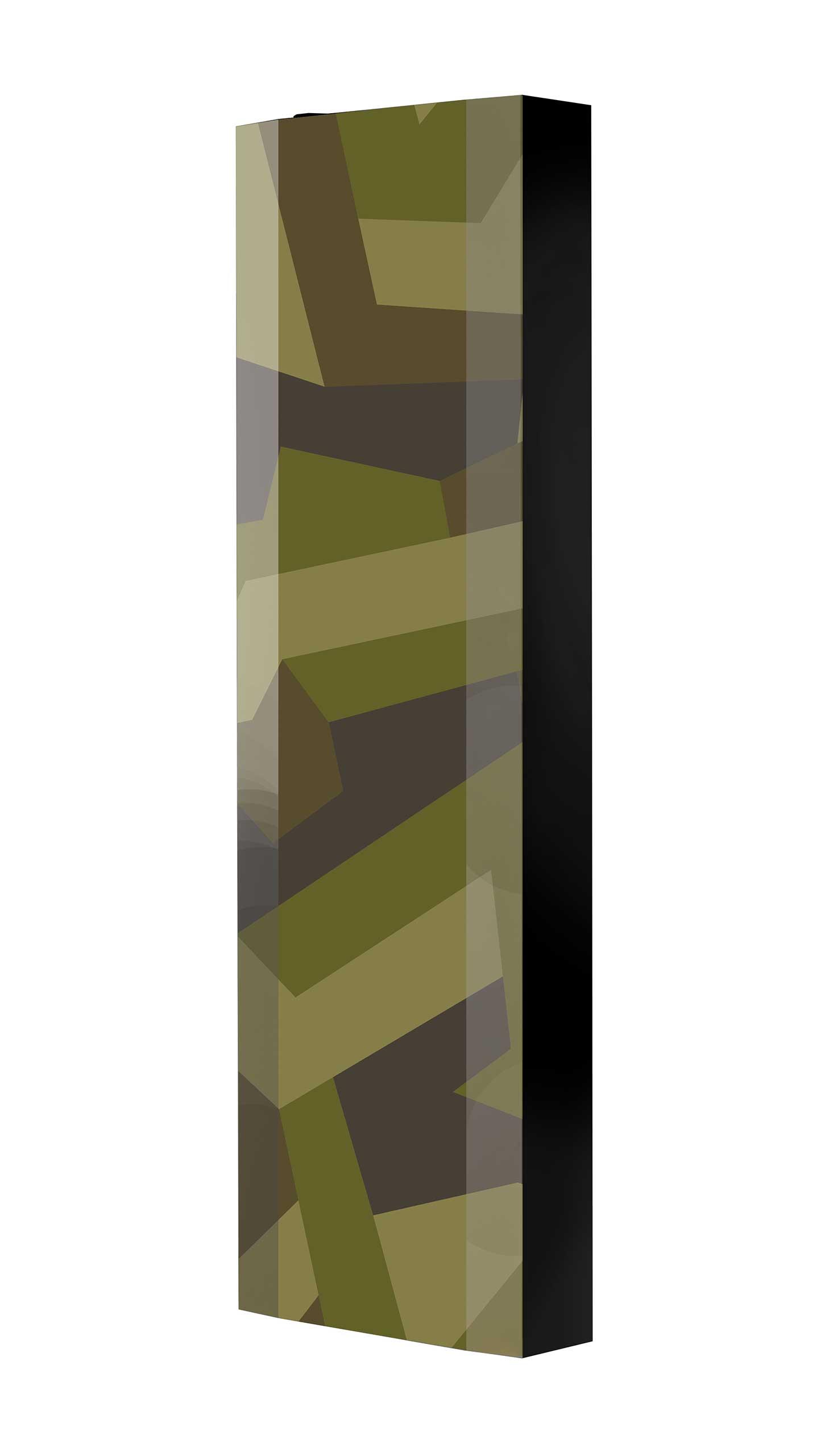 Schuhschrank FLASH 450 BLACK-EDITION Motivschrank schwarz drehbar M124 Camouflage