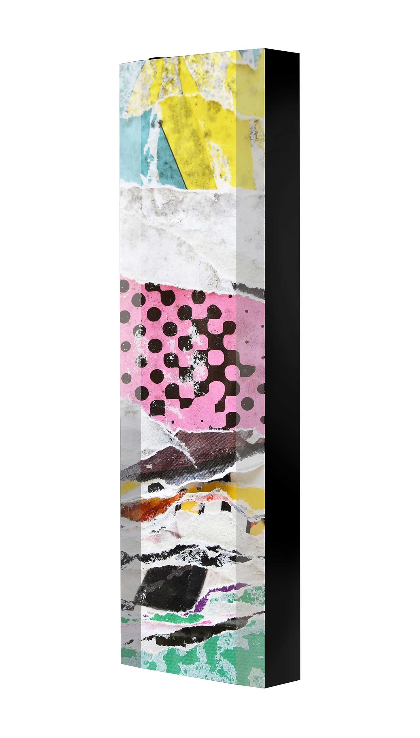 Schuhschrank FLASH 450 BLACK-EDITION Motivschrank schwarz drehbar M128 Plakate