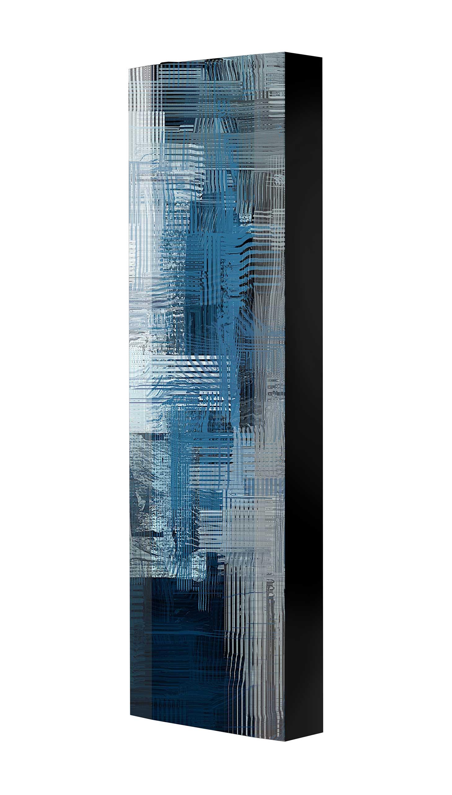 Schuhschrank FLASH 450 BLACK-EDITION Motivschrank schwarz drehbar M136 Abstrakt Kunst