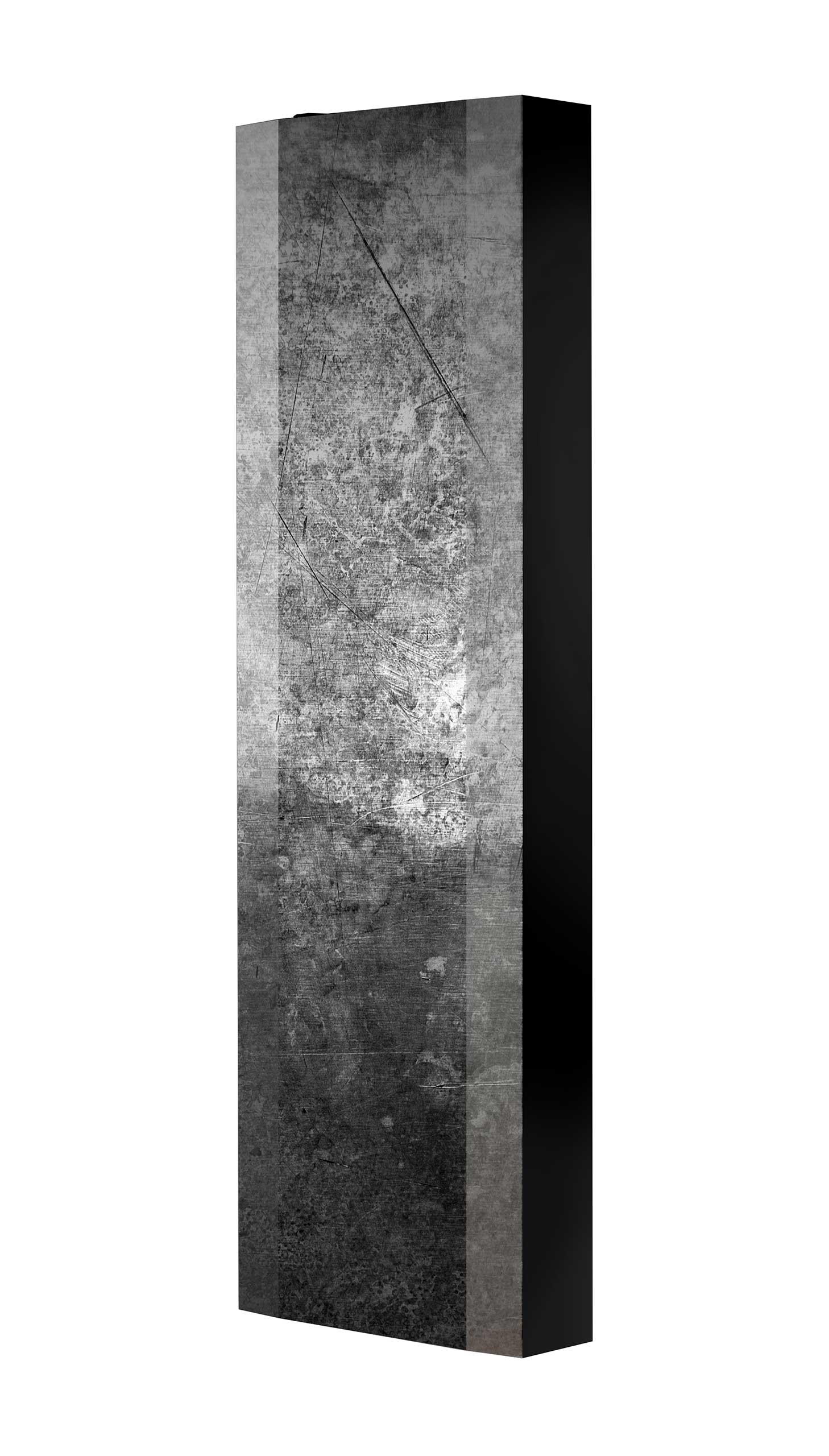 Schuhschrank FLASH 450 BLACK-EDITION Motivschrank schwarz drehbar M13 Beton