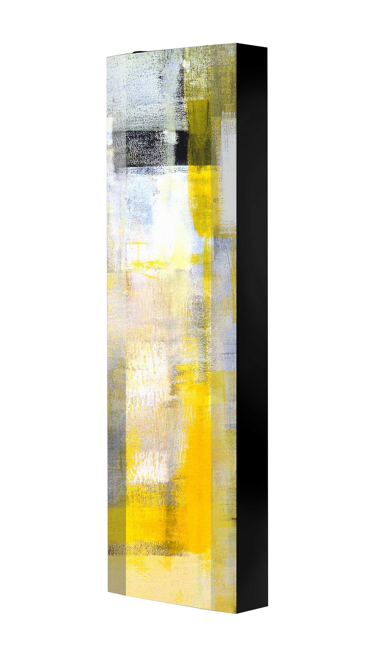Schuhschrank FLASH 450 BLACK-EDITION Motivschrank schwarz drehbar M22 Abstrakt Kunst