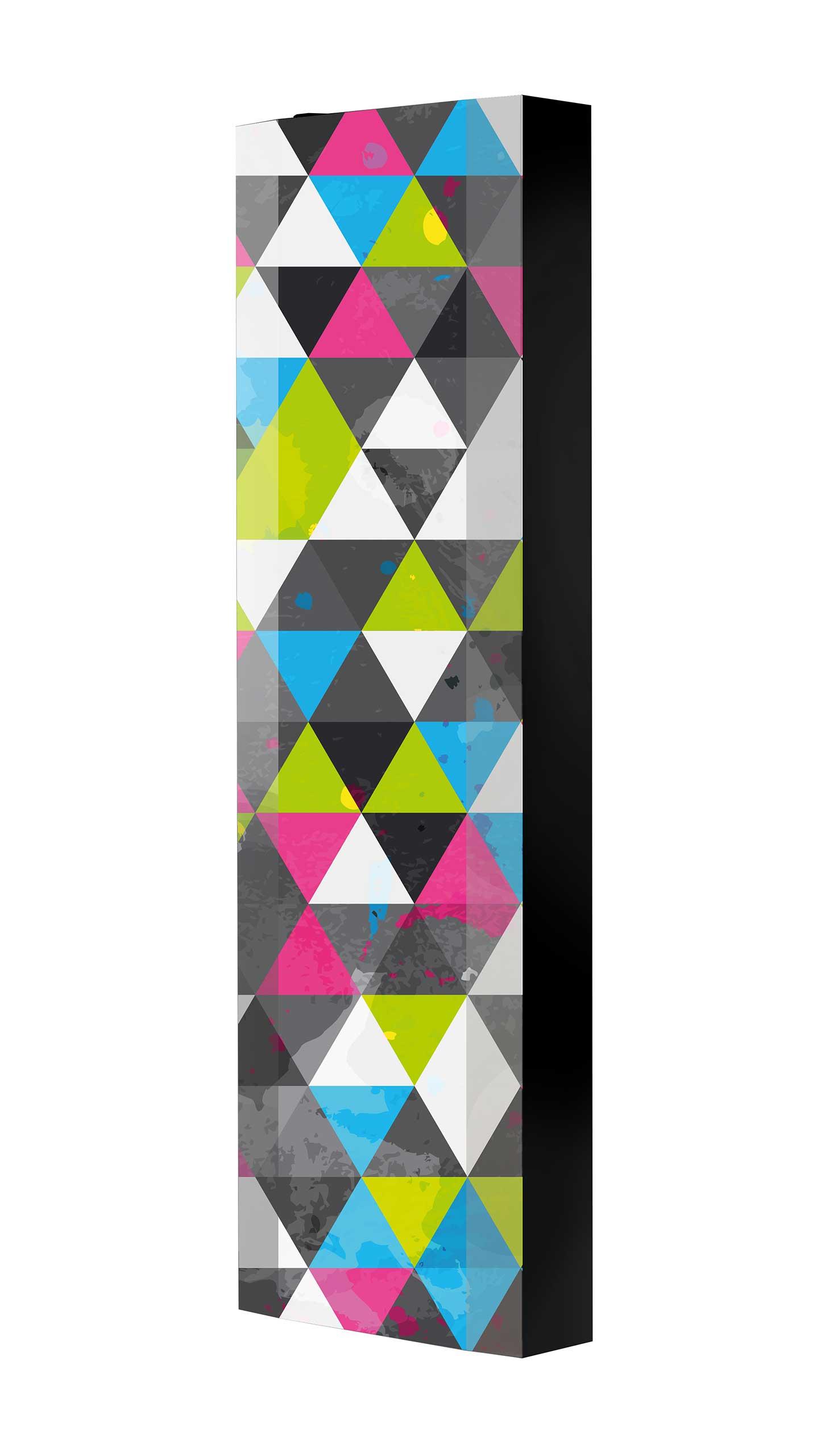 Schuhschrank FLASH 450 BLACK-EDITION Motivschrank schwarz drehbar M33 Kunst Modern