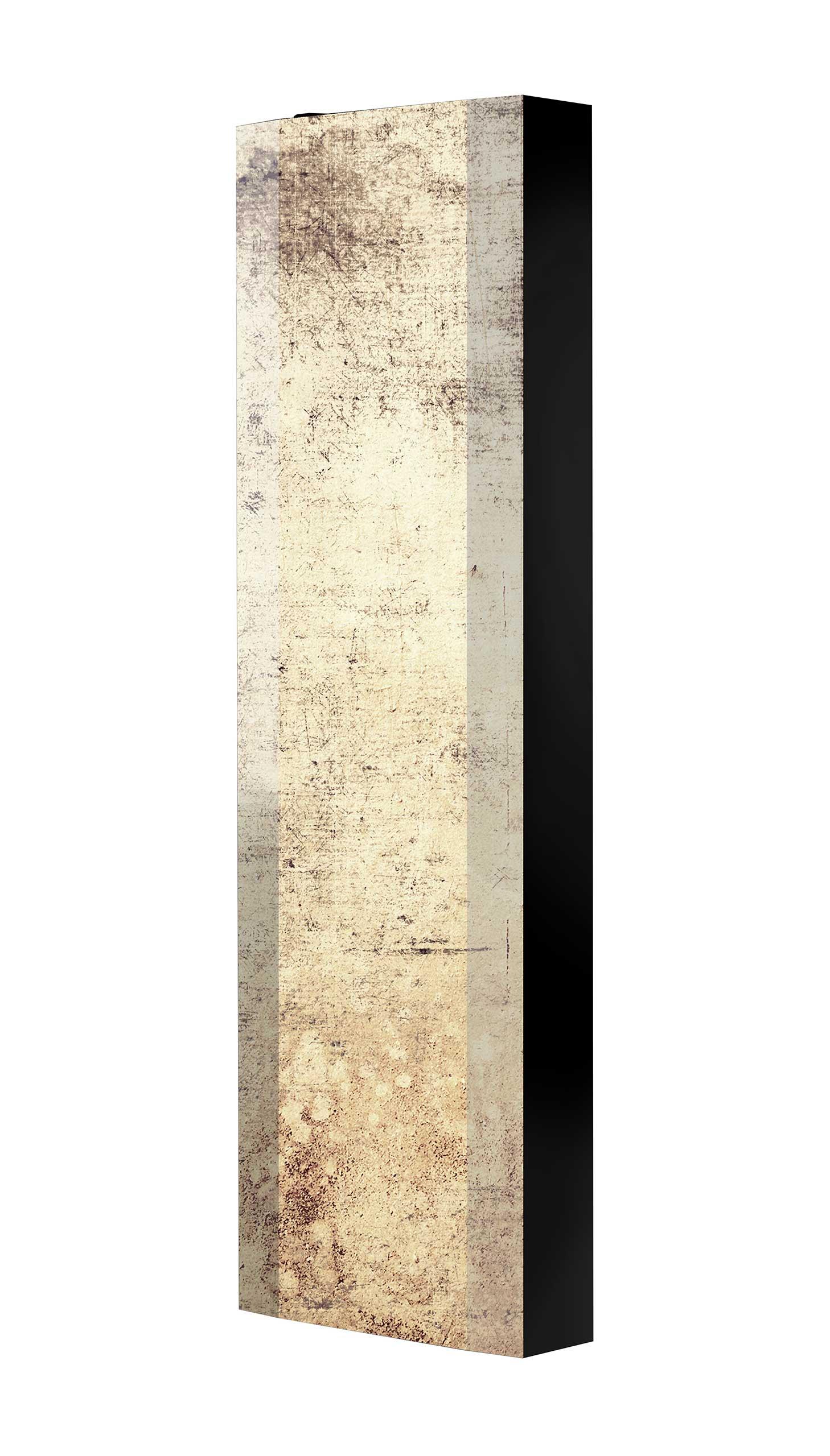 Schuhschrank FLASH 450 BLACK-EDITION Motivschrank schwarz drehbar M34 Abstrakt Kunst