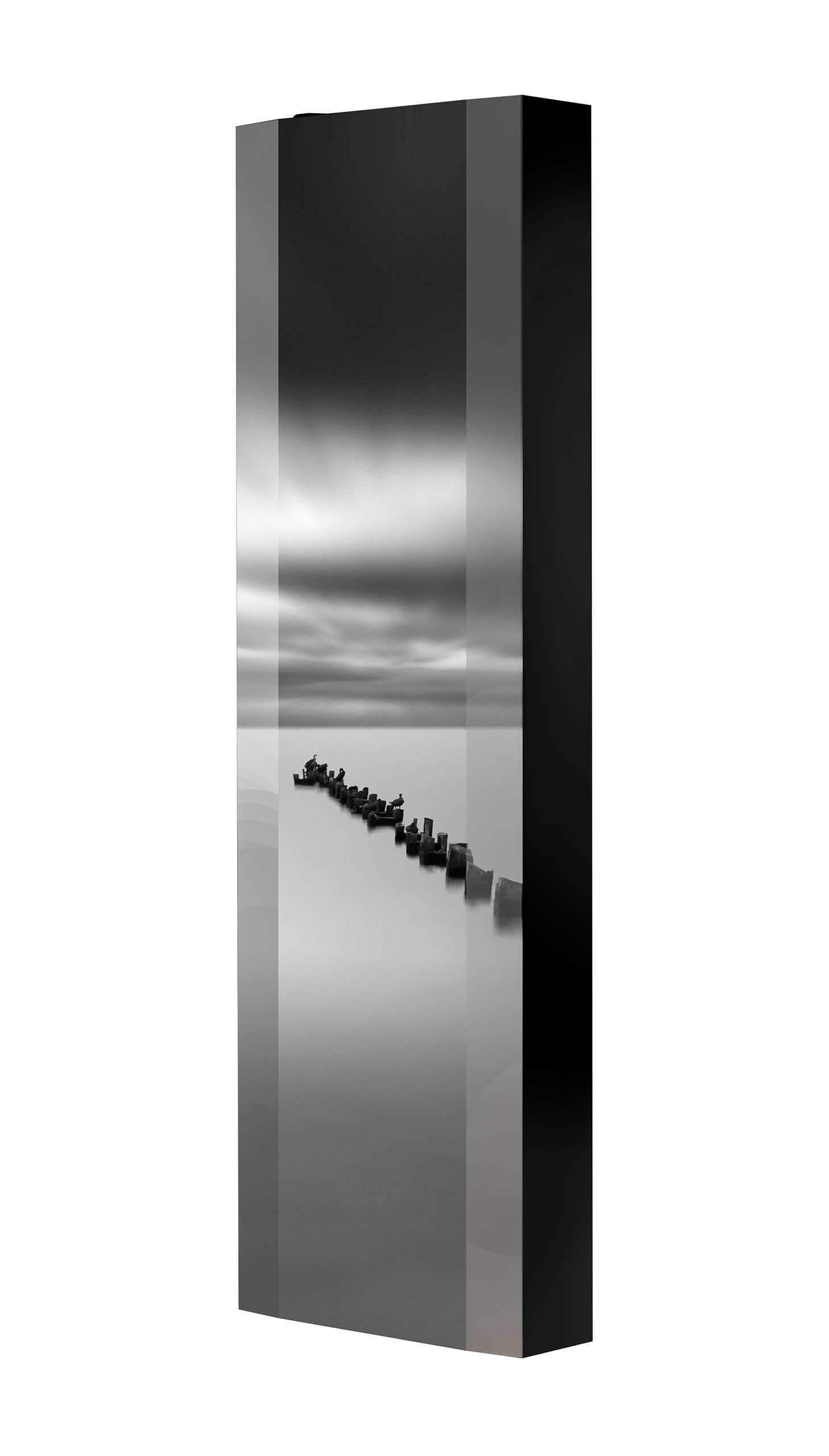 Schuhschrank FLASH 450 BLACK-EDITION Motivschrank schwarz drehbar M36 See Schwarz-Weiß