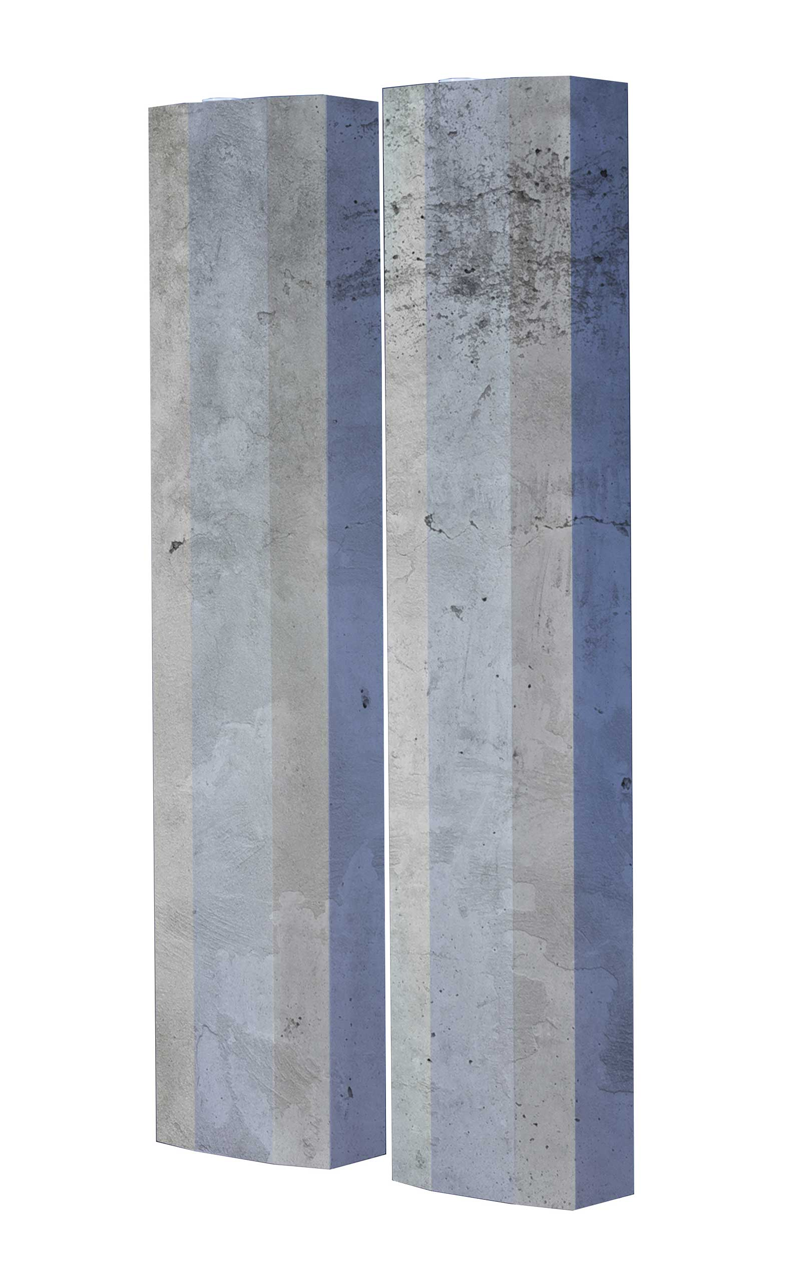 Schuhschrank STORM Motivschrank Duo SD05 Beton weiß 2er Set
