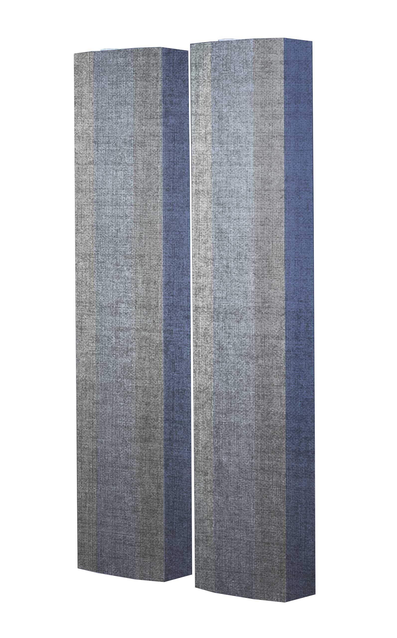 Schuhschrank STORM Motivschrank Duo SD101 Grau Muster weiß 2er Set