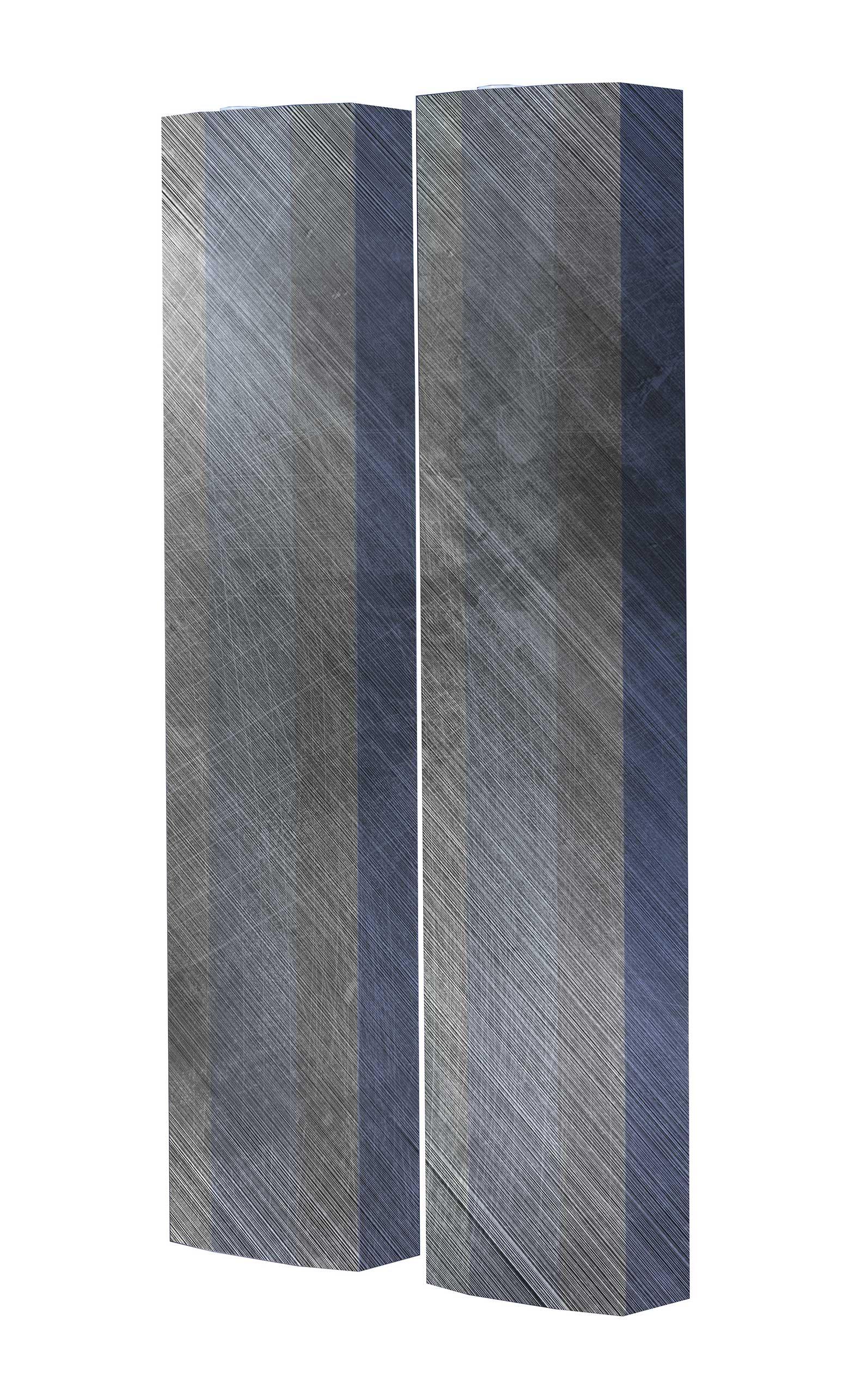 Schuhschrank STORM Motivschrank Duo SD113 Grau Muster weiß 2er Set