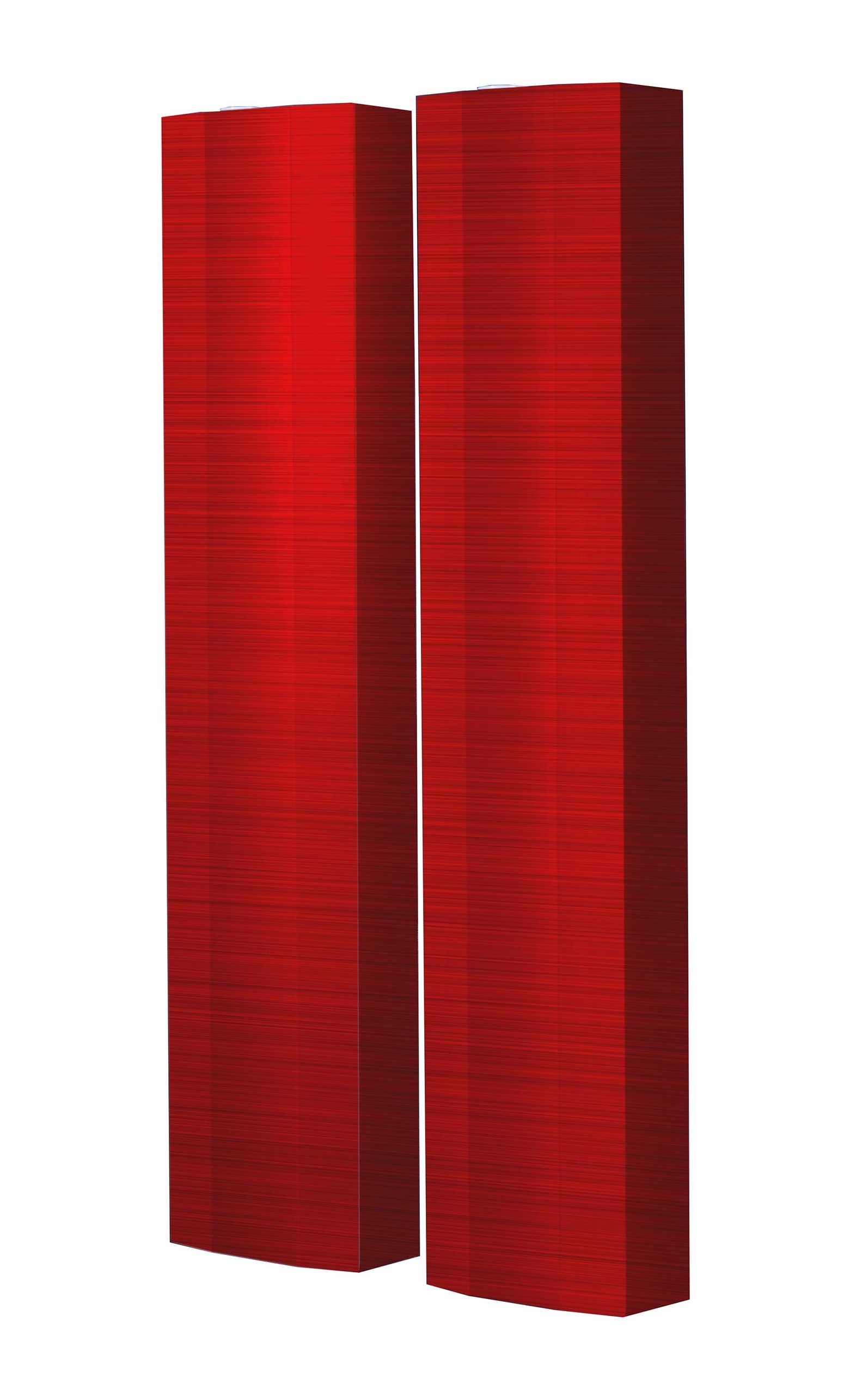 Schuhschrank STORM Motivschrank Duo SD124 Rot Muster weiß 2er Set