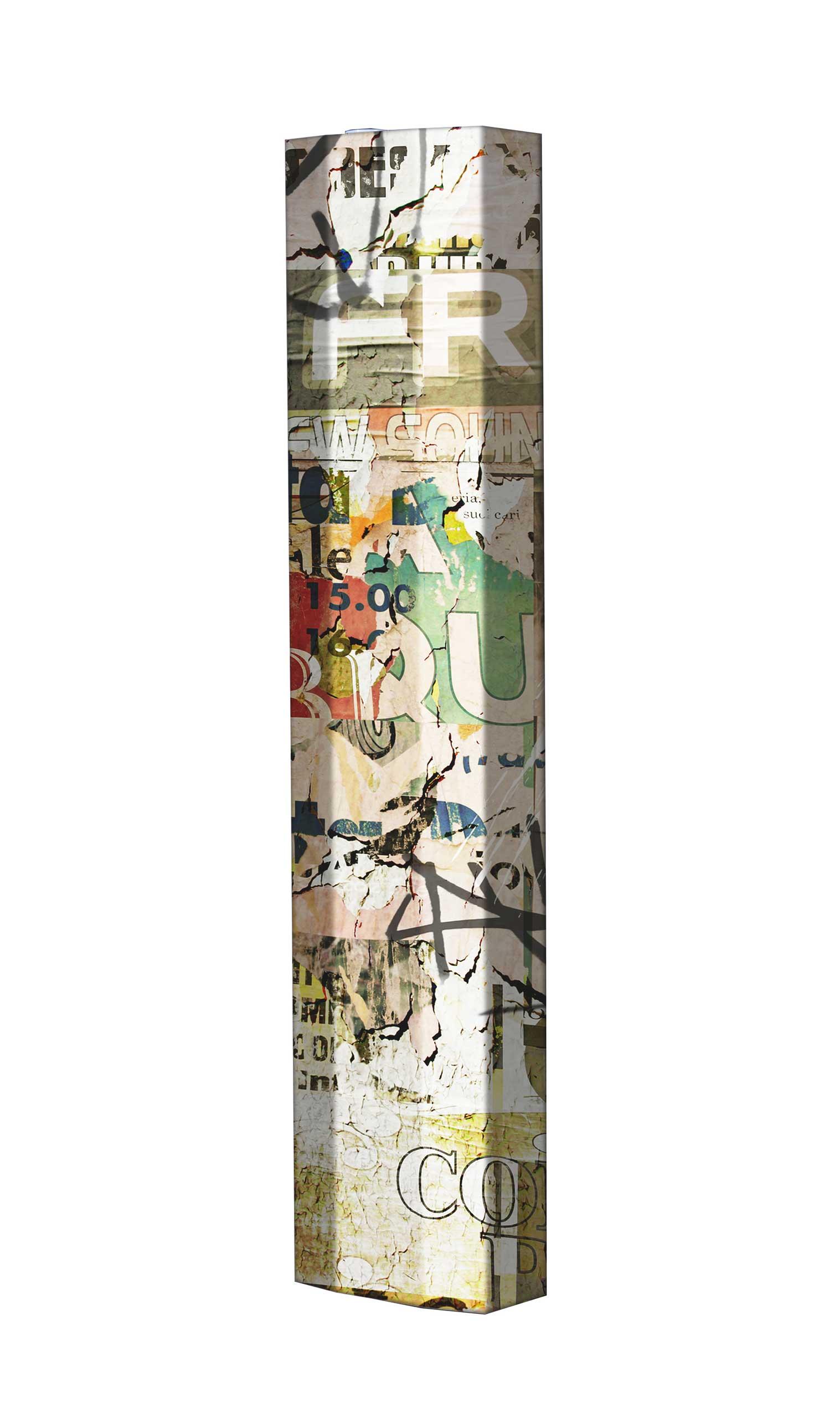 Schuhschrank STORM Motivschrank Single S06 Plakate weiß