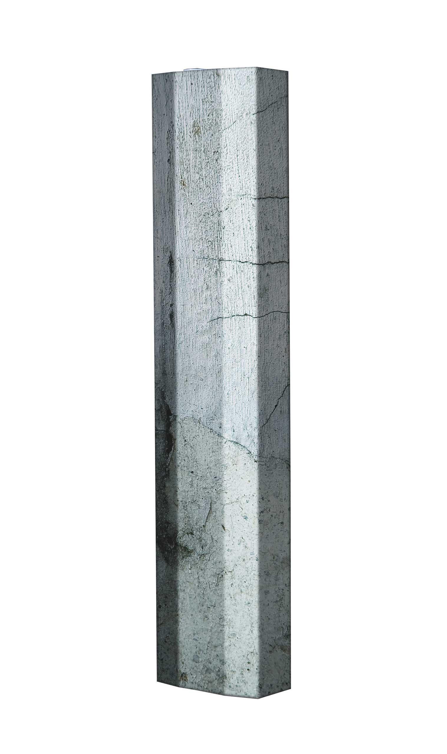Schuhschrank STORM Motivschrank Single S07 Beton weiß