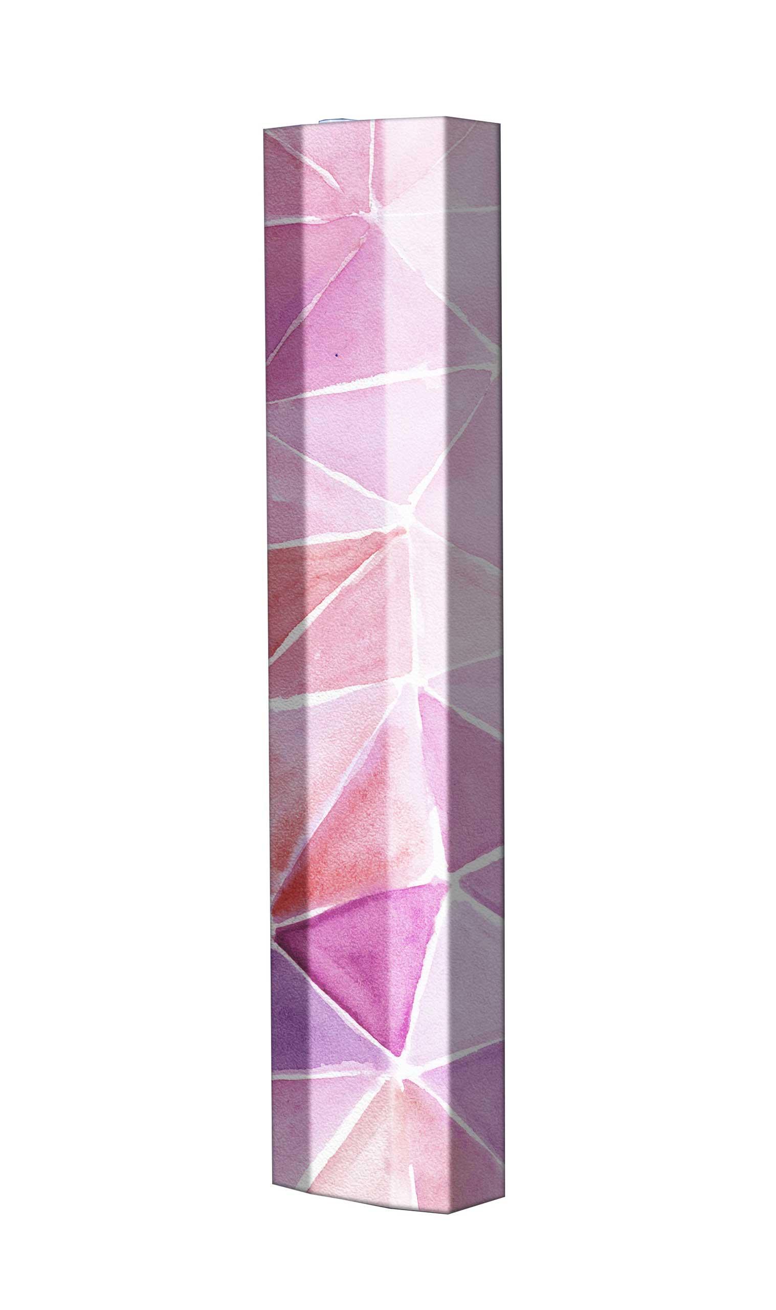 Schuhschrank STORM Motivschrank Single S108 Rosa Muster weiß