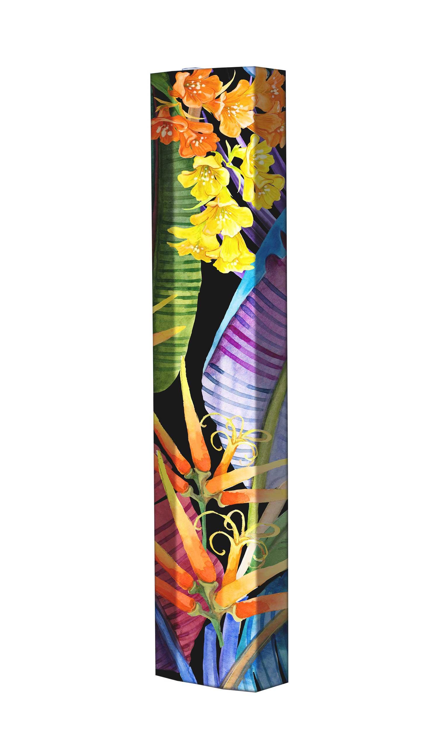Schuhschrank STORM Motivschrank Single S132 Blumen weiß