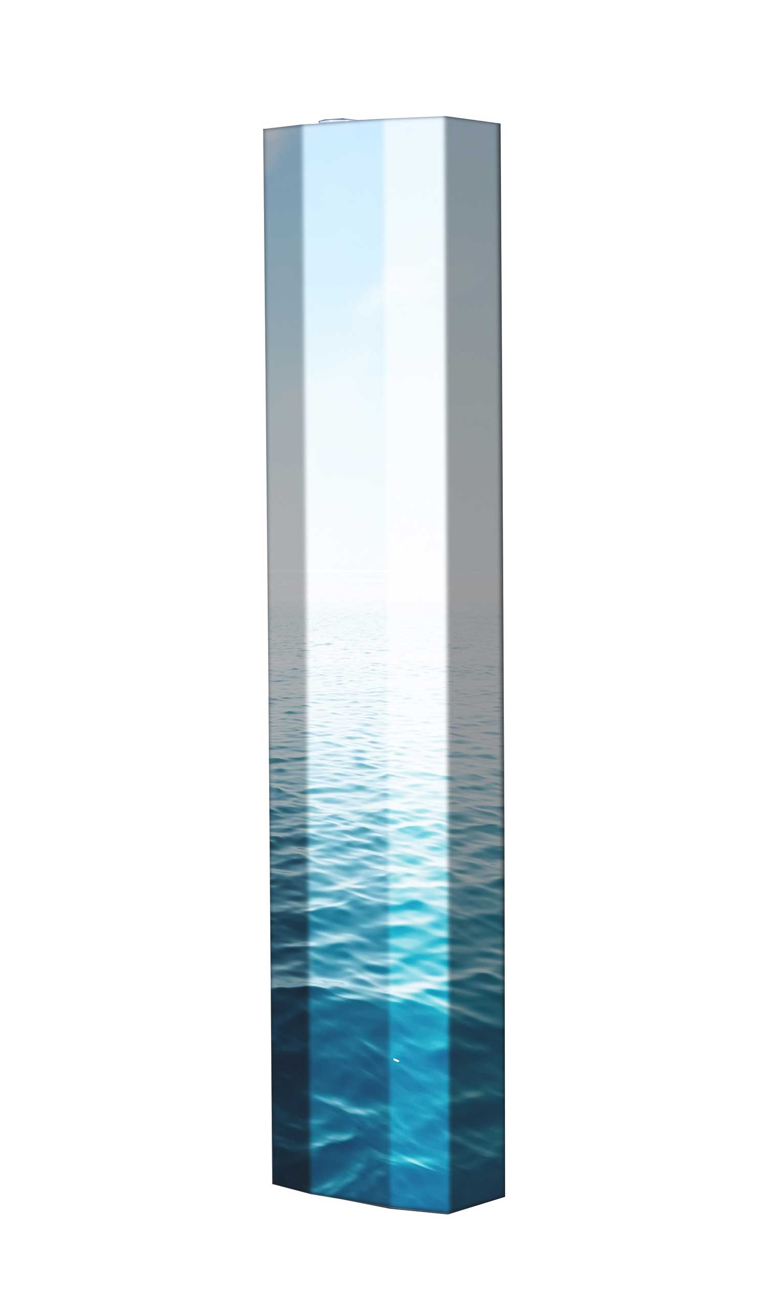 Schuhschrank STORM Motivschrank Single S136 Meer Wasser weiß