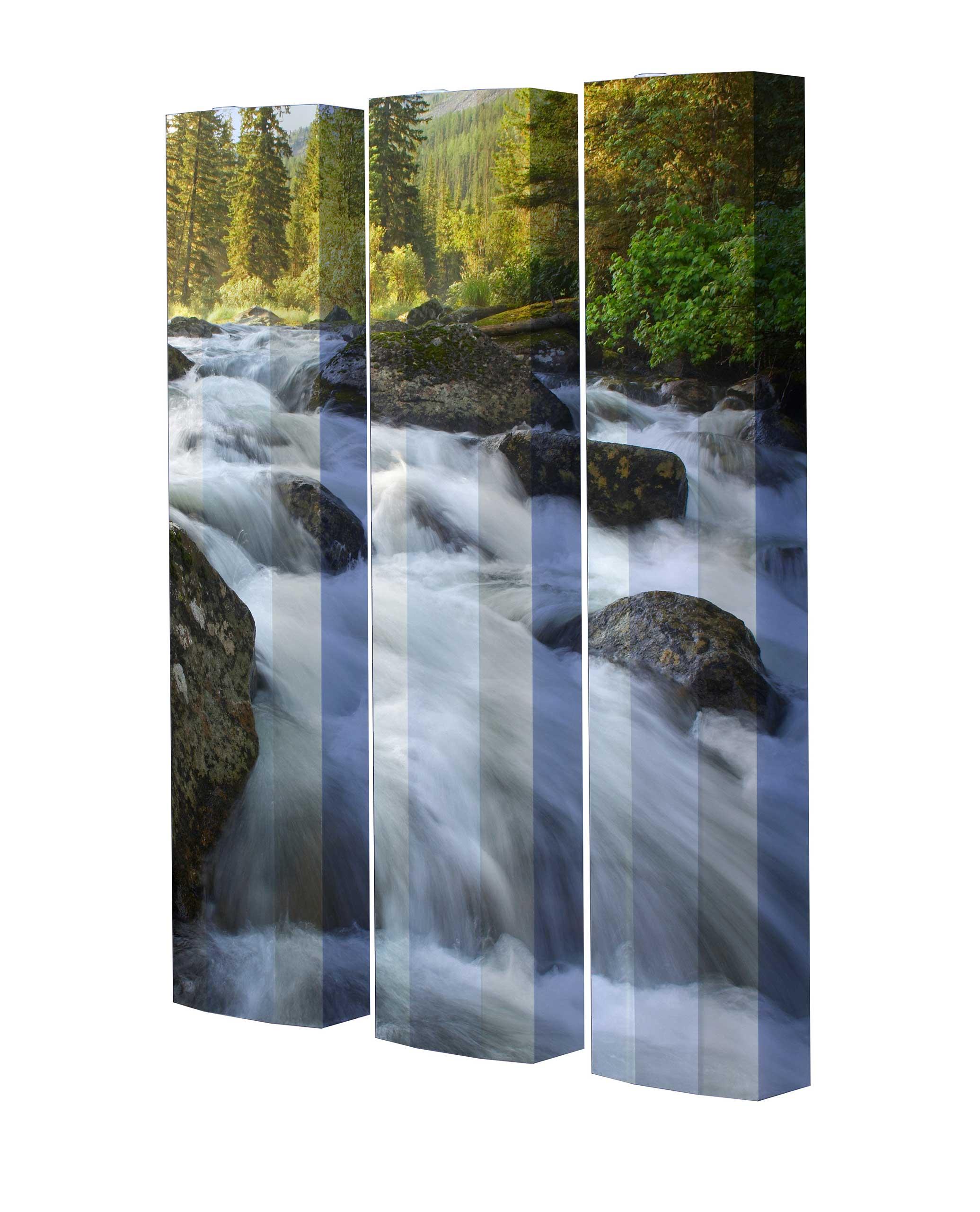 Schuhschrank STORM Motivschrank Trio ST02 Wasserfall weiß 3er Set
