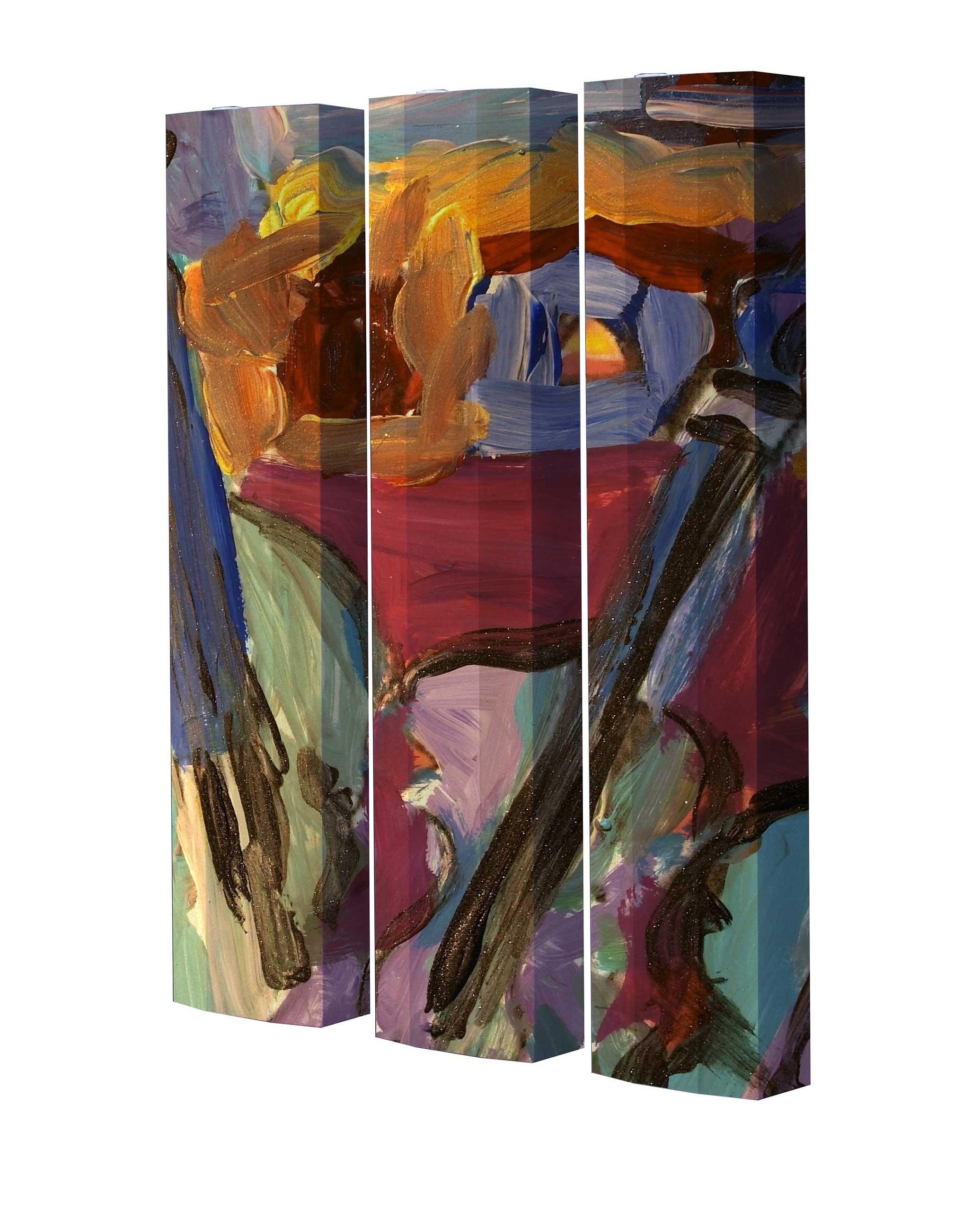 Schuhschrank STORM Motivschrank Trio ST03 Gemälde Kunst weiß 3er Set